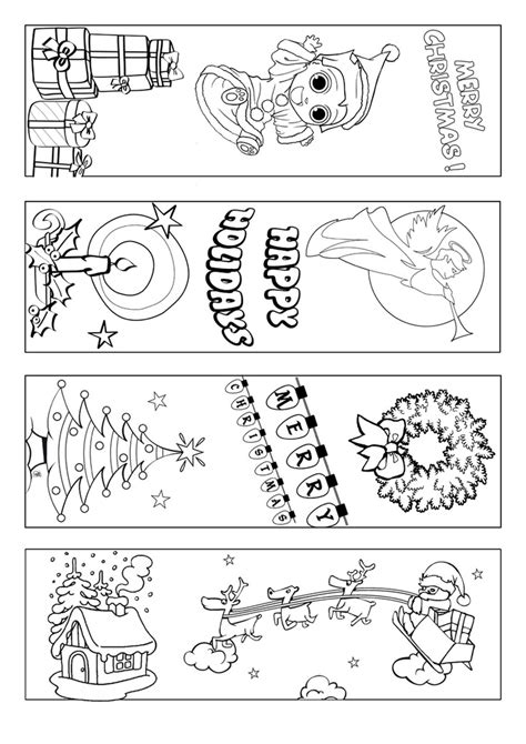 printable christmas bookmarks to color christmas bookmark coloring page marcap 225 ginas con motivos