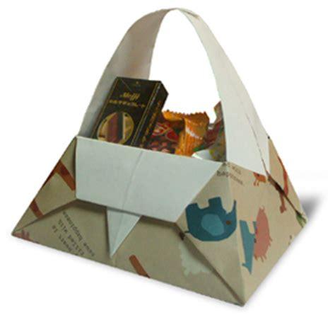 Origami Paper Basket - origami basket