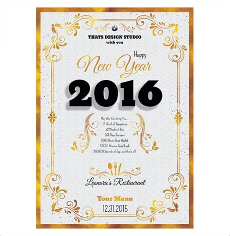 new year template 13 new year menu templates free psd eps illustrator