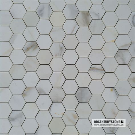 calacatta gold marble bathroom polished white calacatta gold marble mosaics hexagon bathroom election