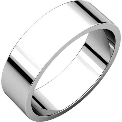 n012506w 14k white gold 6mm wide flat plain wedding band