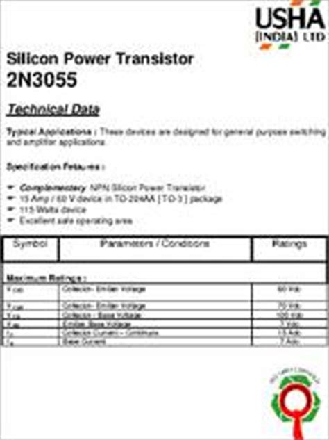 equivalent of transistor 2n3055 2n3055 transistor datasheet images frompo
