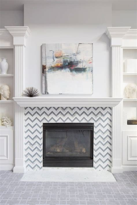 tile around the fireplace