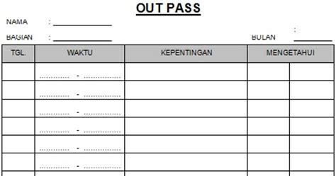 contoh form surat out pass perusahaan swasta