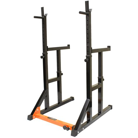 stand bench mirafit adjustable squat rack dip stand barbell weight