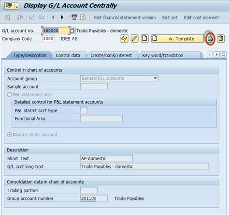 Sap Gl Account Table by Gl Account In Sap Tutorial Create Display Block