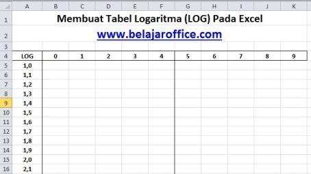 membuat qr code pada excel membuat tabel logaritma log pada excel