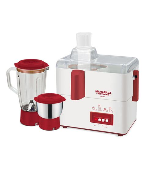 Mixer Juice maharaja whiteline gala juicer mixer grinder white and maroon at rs 1599