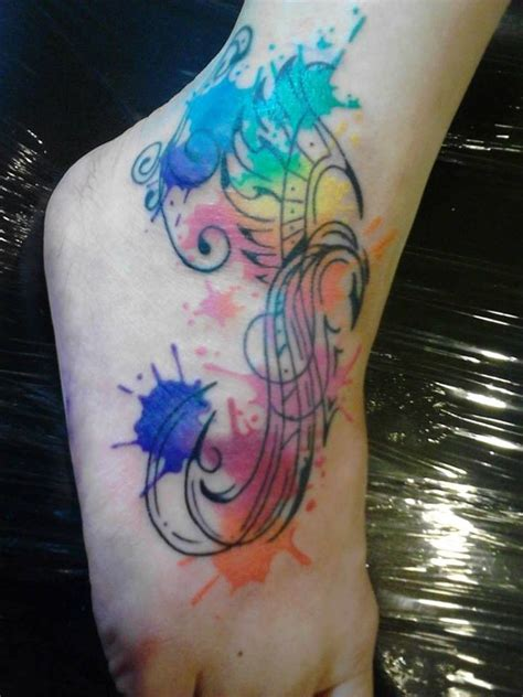 watercolor feather tattoo designs watercolor splendid foot feather