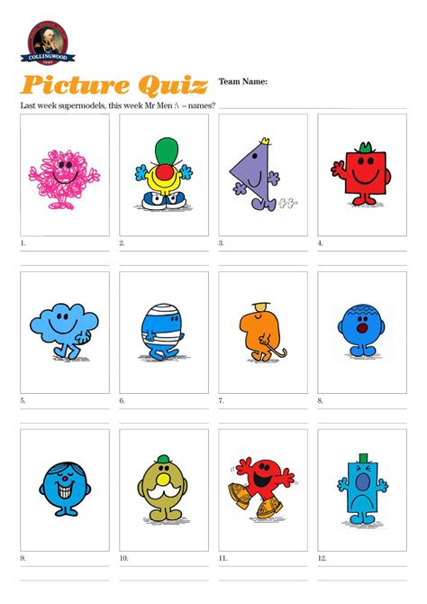 quiz questions picture round quiz 61 mr men not welcomed at the bar the collingwood