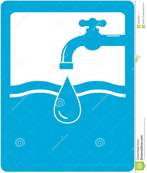 il simbolo dell acqua potabile con il rubinetto spilla ed