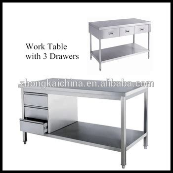 work table with drawers stainless steel kitchen work table with drawers buy work
