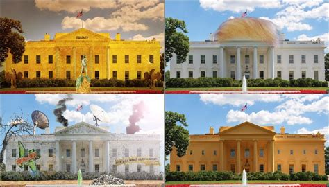 trump white house decoration trump win sparks photoshop battle to predict new white