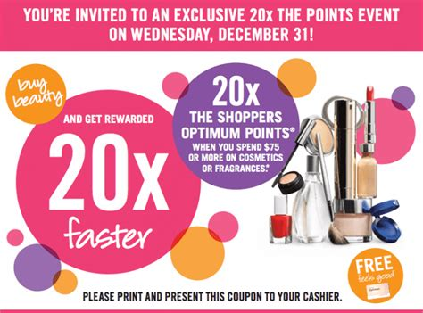 printable pers coupons canada 2014 shoppers drug mart canada coupons get 20x the shoppers