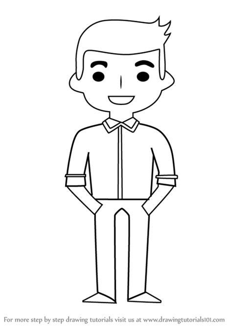 How To Draw An Boy step by step how to draw standing boy for