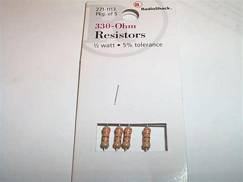 250 ohm resistor radio shack radio shack 330 ohm resistors 28 images 10 ohm 1 4 watt 5 carbon resistor 5 pack radioshack