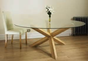 oak pedestal glass round 4 6 dining table for 8 chairs ebay