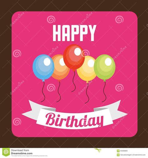happy birthday web design happy birthday design stock vector image 63369805