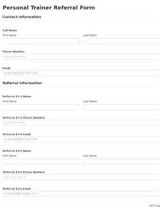 referral template business form template gallery