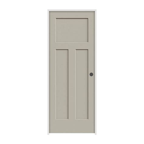Jeld Wen Prehung Interior Doors Jeld Wen 36 In X 80 In Molded Smooth 3 Panel Craftsman Desert Sand Solid Composite Single