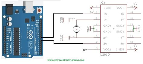 motor driver l293 l293d motor driver controlling direction of rotation with