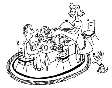 family dinner coloring page family dinner coloring page coloringcrew com