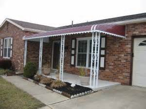 Metal Awnings For Homes Residential Awnings Metal Vs Fabric Carroll Awning