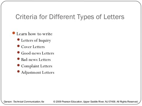 Different Types Of Business Letter Sle different kinds of letter 5 different types of business