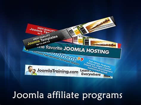 Make Money Online Programs - joomla affiliate program make money online step by step