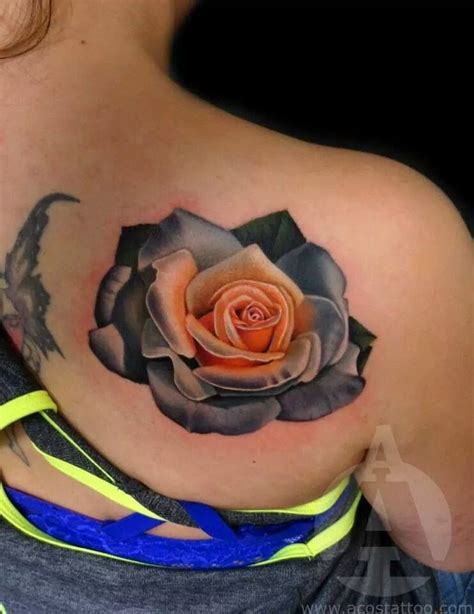 blooming rose tattoo acostattoo artist andres acosta acostattoo