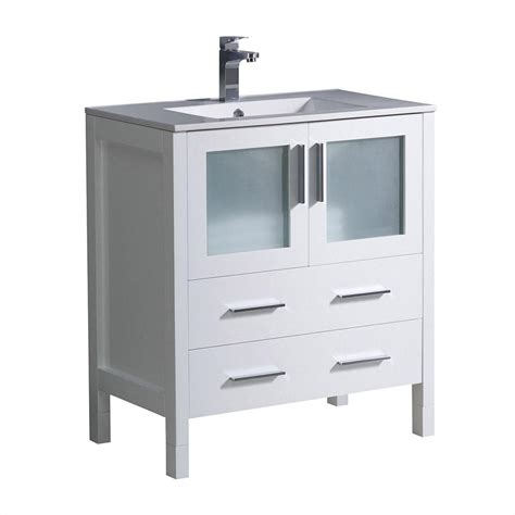 30 white bathroom vanity with top fresca torino 30 in bath vanity in white with ceramic