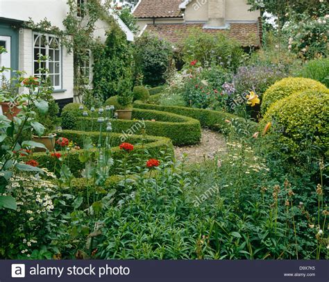 cottage garden box cottage garden with gravel path and low clipped