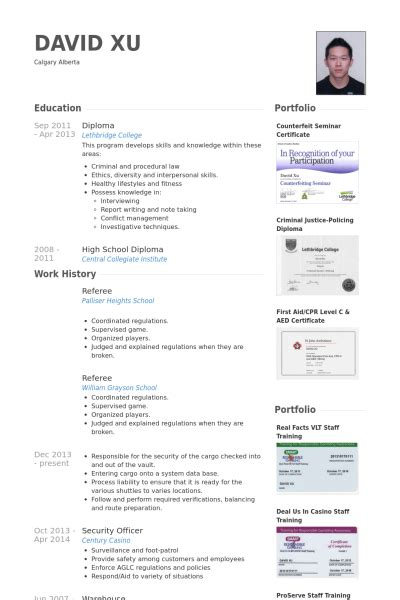 Referee In Resume by Arbitre Exemple De Cv Base De Donn 233 Es Des Cv De Visualcv
