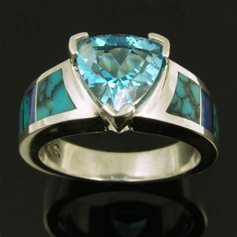 turquoise opal engagement australian opal and turquoise sterling silver ring with a