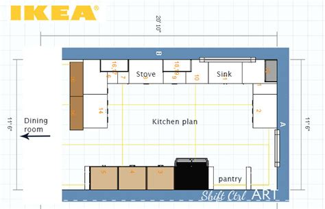 ikea kitchen plans   upper cabinets