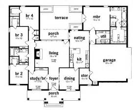 House Plans 5 Bedroom by Floor Plan 5 Bedrooms Single Story Five Bedroom European