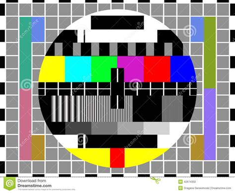 test pattern cards tv color test pattern stock illustration image 42674350