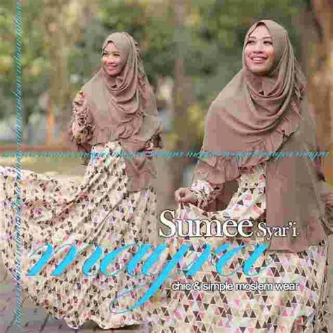 Baju Muslim Wanita Gamis Fitria Size Ori Naura Murah Terbaru gamis pilihan wanita musl bulan puasa mayra busana muslim