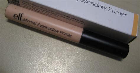 E L F Mineral Eyeshadow Primer and the city mineral eyeshadow primer de e l f