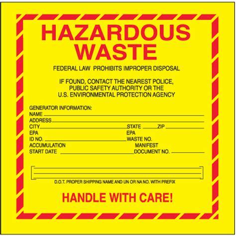 Waste Labels Free Hazardous Waste Label Template