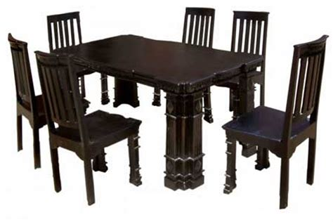 Buy Painted Wooden Dining Table Set From N B Exports Indian Style Dining Table And Chairs