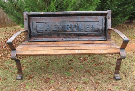 old truck tailgate bench my builder on pinterest by joanineu welding projects
