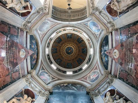 cupola bernini the basilica of santa popolo in rome port