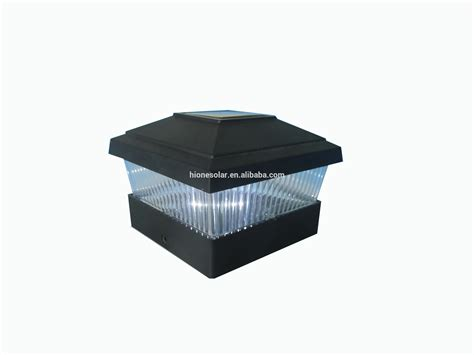 Led Solar Fence Post Cap Light With Two Fence Size Buy Solar Light Post Cap