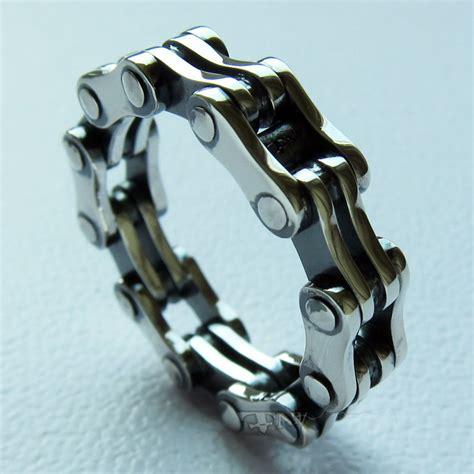 925 sterling silver chain ring handmade tnm biker jewelry