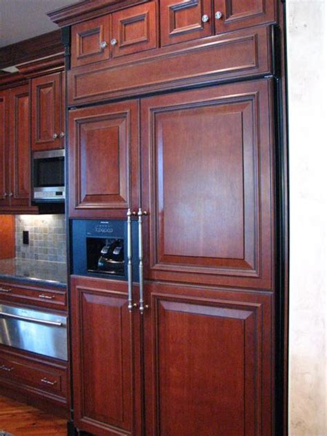 fridge kitchen cabinet cabinet covered refrigerator cabinets fully flush