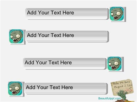 zombie themes for powerpoint free powerpoint template plants vs zombies