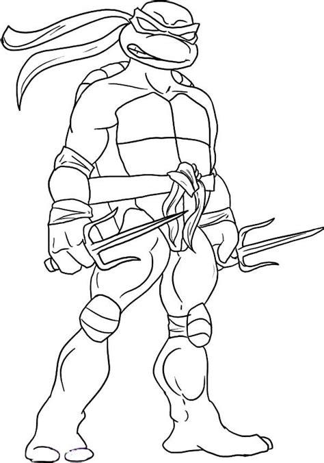 raphael ninja turtle coloring pages printable teenage mutant ninja turtles sai is raphael weapon of