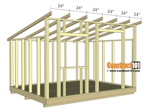 lean  shed plans construct diy storage shed