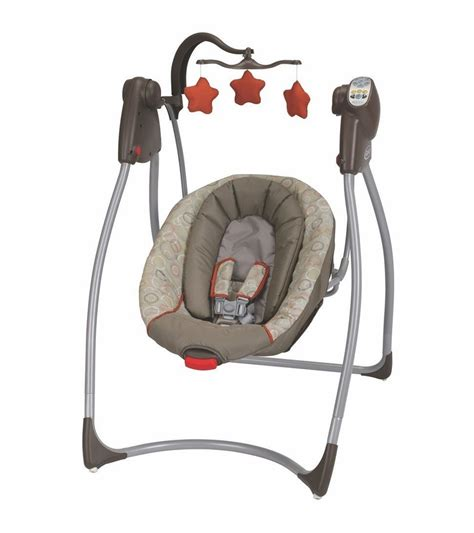 baby swing plug in graco comfy cove lx no plug infant swing forecaster